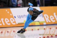 Shani Davis tijdens WR 1500m World Cup SLC